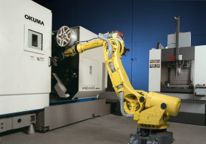 Robots - Wheel handling with R2000iA robot